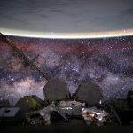 A Terra e a Via Láctea vistas do espaço por Scott Kelly na Estação Espacial Internacional