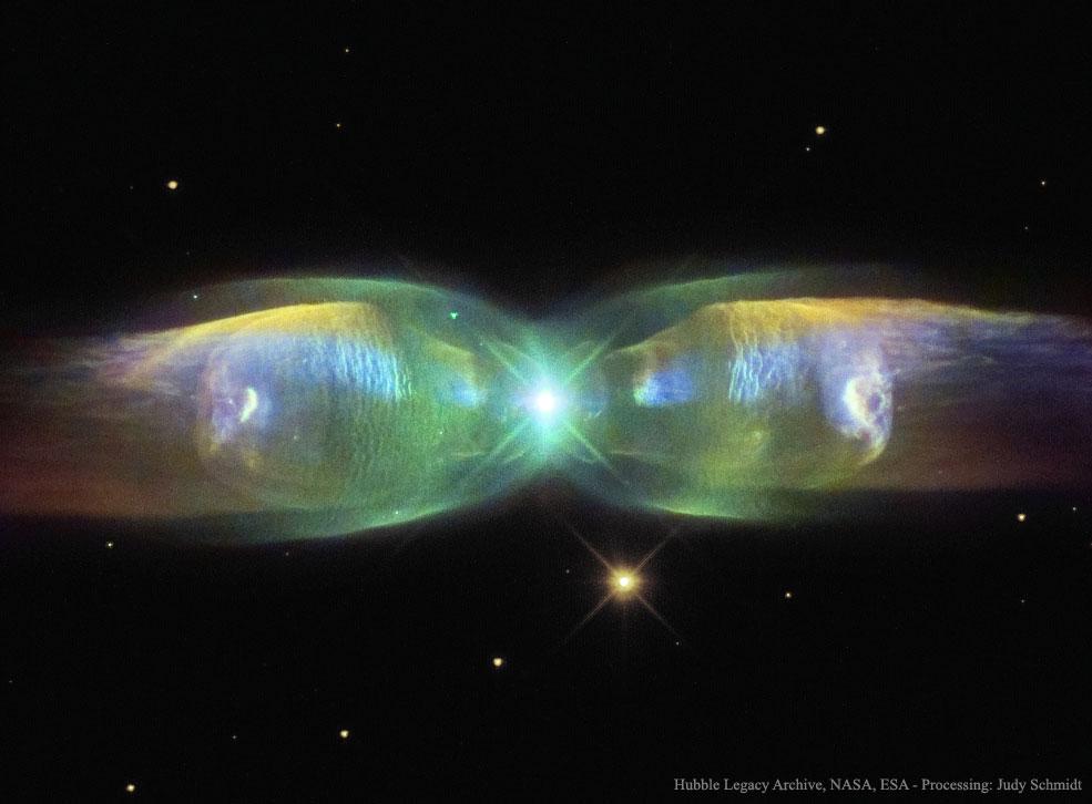 M2-9: a Nebulosa da Borboleta capturada pelo Hubble e processada por Judy Schmidt
