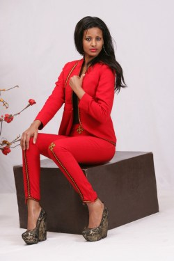 Fashion-model-turned-designer Hiwot Gashaw