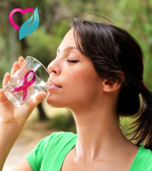 cancer girl drinking water