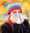 woman with flu