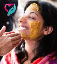 turmeric on face