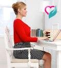 woman desk calories workout