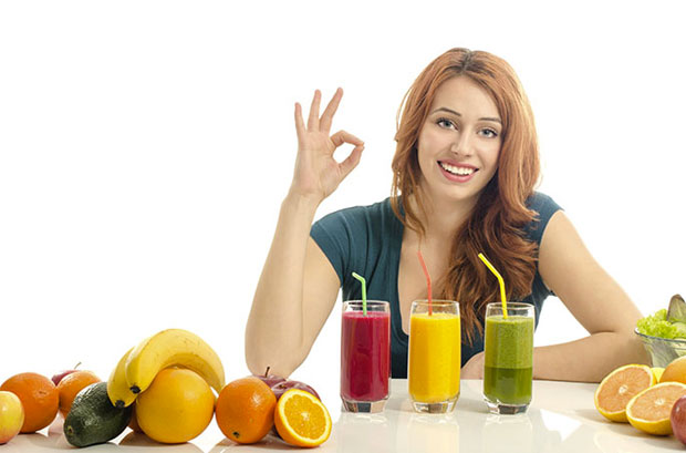 woman with juices