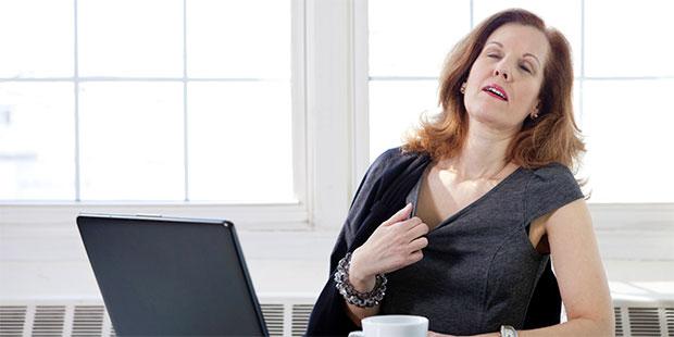 overheating woman