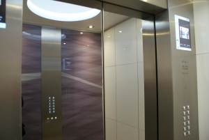 Elevator interior of Westpac House