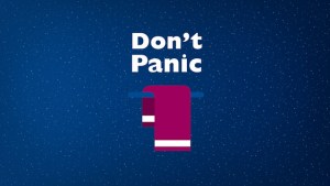 """Thanks to audiencestack.com for the """"Don't Panic"""" image."""