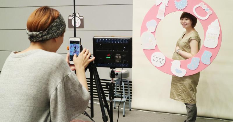 10/11(水)ピジョン主催マタニティ向けイベント「おっぱいカレッジ」にて撮影ブースを担当しました!
