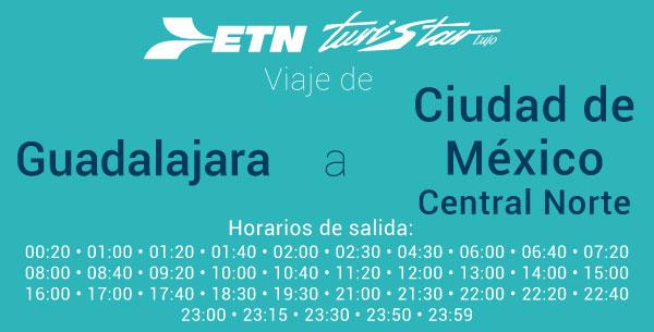 Autobuses de Guadalajara a Mexico
