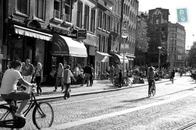Amterdam bikes black and white
