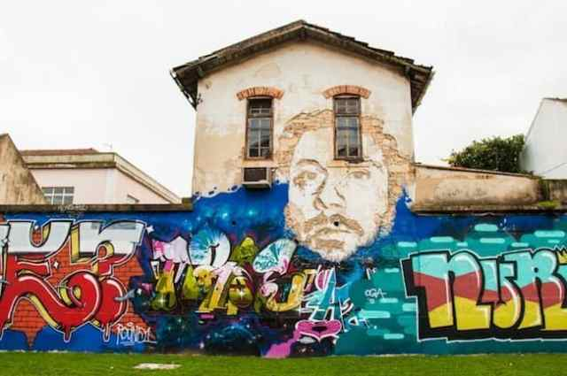 Old building turned into a canvas for street artists