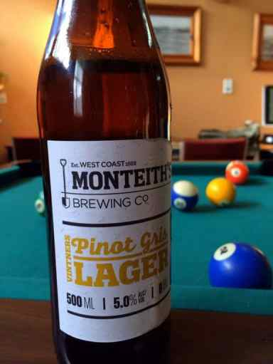 Monteith's Pinot Gris Lager