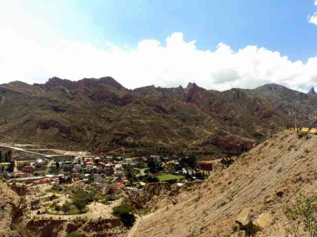 A picture of a valley in La Paz