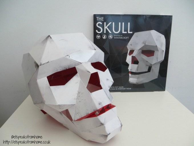 skull mask book Press Out Masks