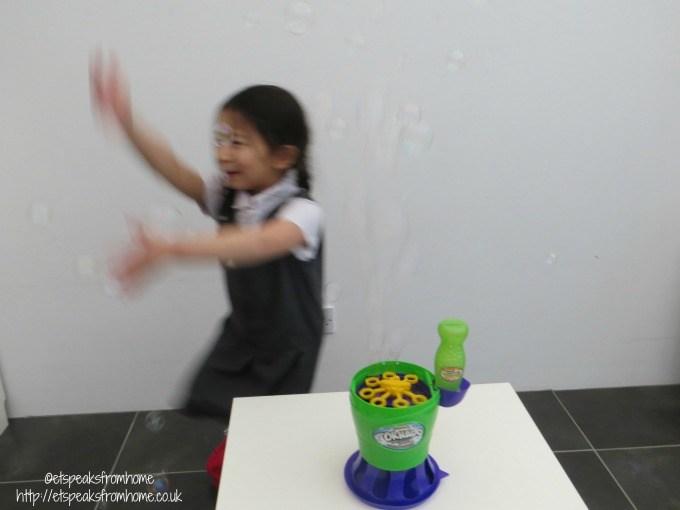 gazillion tornado bubble blower playing