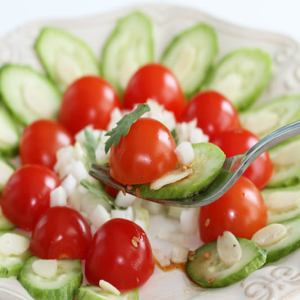 Cherry Tomato Cucumber Salad