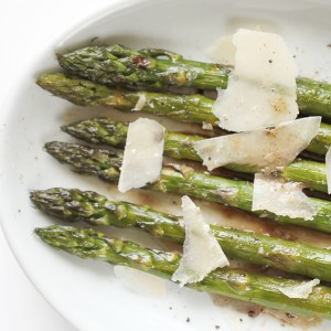 Roasted Asparagus with Lemon, Balsamic and Parmesan