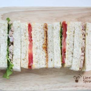 3 Tea Sandwich Recipes – Tuna, Tomato, Peanut Butter & Jelly