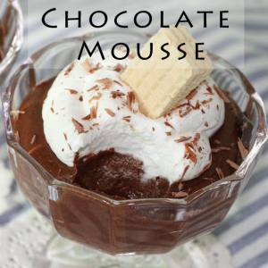 3-Ingredient Chocolate Mousse Recipe