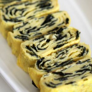 Zebra Egg Roll, Korean Rolled Tamagoyaki