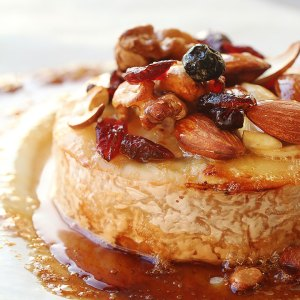 Baked Brie with Honey Caramel