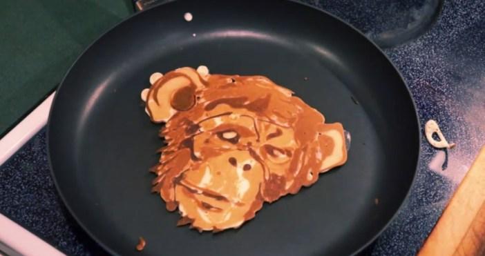 チンパンジーのパンケーキ