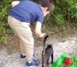猫を保護した少年