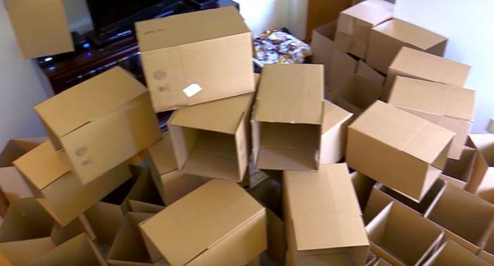 50個の箱