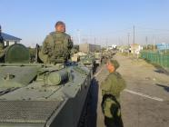 Russian soldiers near border
