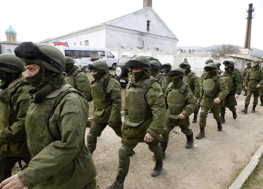 Russian army invading Crimea, Ukraine