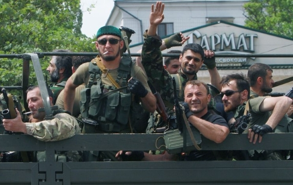 Russian mercenaries from Chechnya in Donbas, Ukraine (Image: inforesist.org)