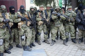 One of the groups of Russian special forces and mercenaries that started the war in Donbas, Ukraine