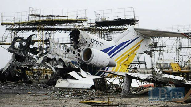 Devastation at Donetsk airport caused by the Russian aggression in the Donbas, Ukraine (Image: LB.ua)