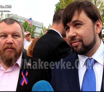 "Andrey Purgin and Denis Pushilin, the main characters of the ""Game of Thrones meets House of Cards"" drama thay played out in occupied Donetsk on a Friday night"