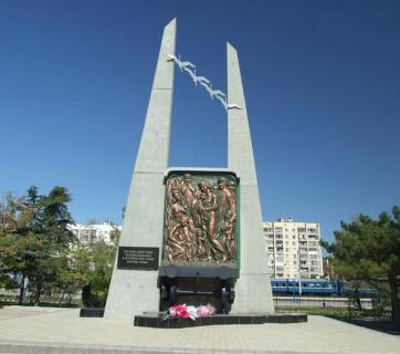 Memorial to the victims of Stalin's deportation of the Crimean peoples in the city of Yevpatoria in Putin-occupied Crimea.