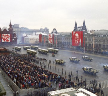 Military parade on Red Square in Moscow to celebrate an anniversary of the October Communist Revolution. November 7, 1990. (Image: TASS)