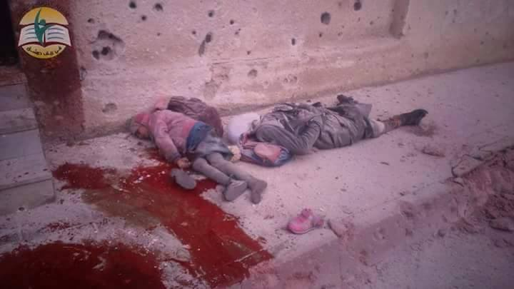 A Russian massacre of Syrian school children. Damascus, Syria, December 2015. (Image: Social media)