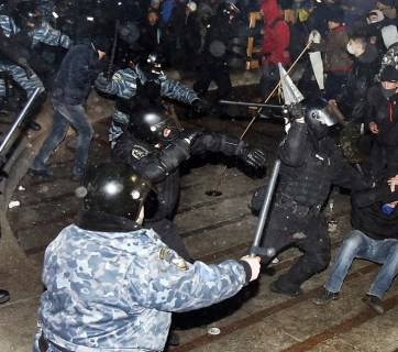 students ukraine protest pacification berkut