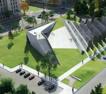 This is the winning design for the new National Memorial to Victims of Communism on Wellington Street in Ottawa. Source: Tribute to Liberty