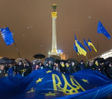 Ukraine Euromaidan European Union flag