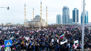 Rally in Support of Kadyrov, Grozny, Jan 22, 2016 (source: RFE/RL)