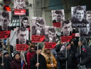 """He Fought For Our Future,"" Boris Nemtsov Funeral Procession, Moscow, March 1, 2015"