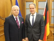 Eckart Würzner (right) meets Russian General Consul to Germany Aleksandr Bulayev to discuss cooperation with Simferopol. Image: http://www.heidelberg.de/