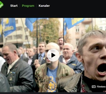 Trailer to Moreira's film on Swedish channel announcing airing on 1 May. Photo: Screenshot from svtplay.se