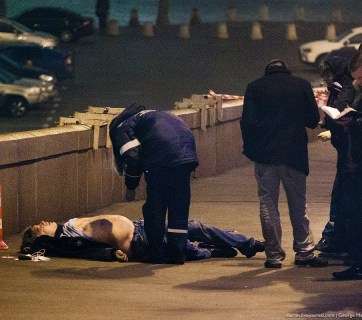 Opposition politician Boris Nemtsov, shot dead at the foot of the Kremlin, February 27, 2015.