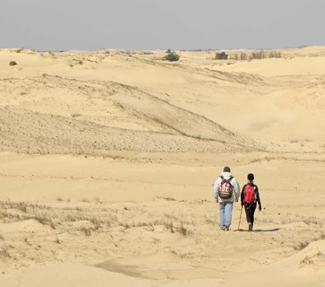 Oleshkiv desert in Ukraine's Kherson Oblast - the largest desert in Europe