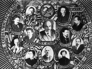 "Lenin's Politburo of 1918. Only a couple of its members survived Stalin's ""cleanings."""