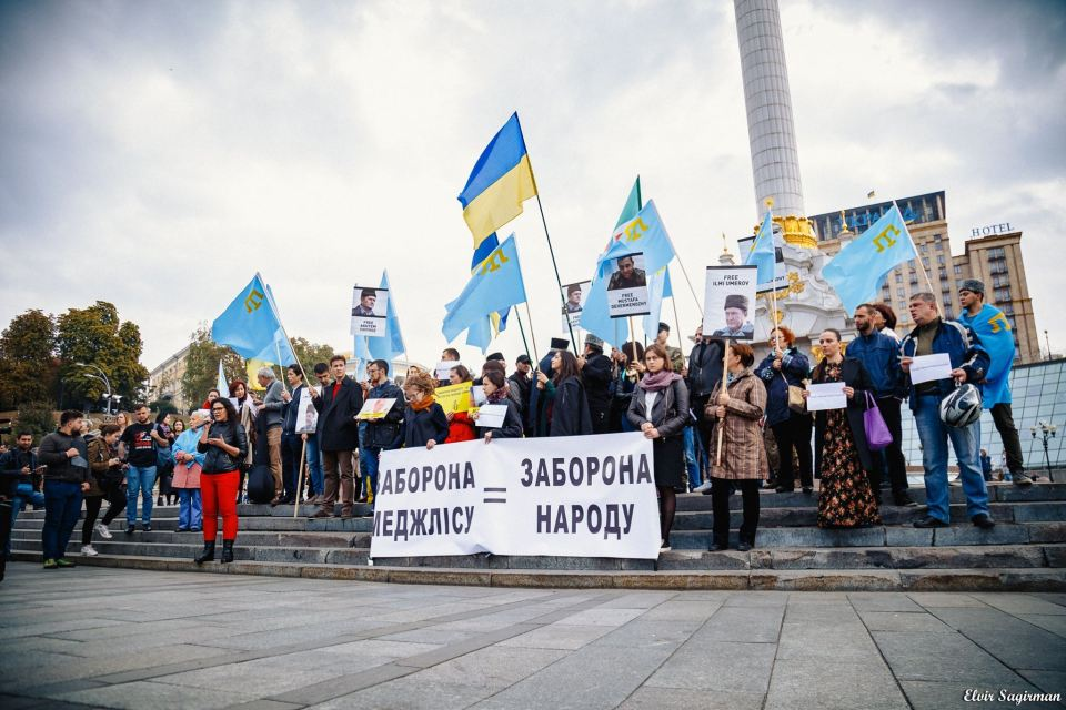 29.09.2016. Demonstration in support of the Mejlis in Kyiv. Photo: Elvir Sagirman