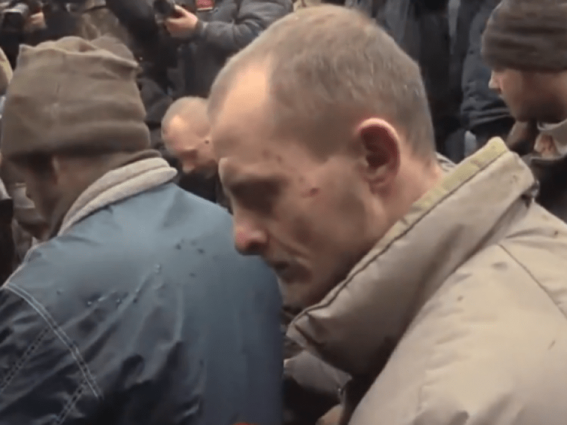 Ukrainian prisoners-of-war
