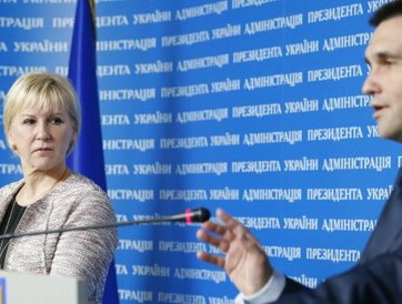 Swedish Foreign Minister Margot Wallström and Ukrainian Foreign Minister Pavlo Klimkin. Photo: UNIAN
